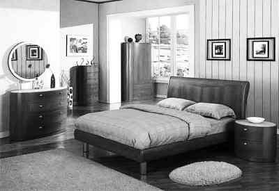 图为 现代实木家具装修样板房高清图片